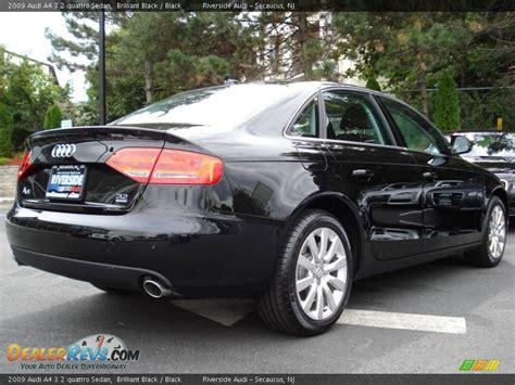 audi a4 2009 black 2009 audi a4 3 2 quattro sedan brilliant black black