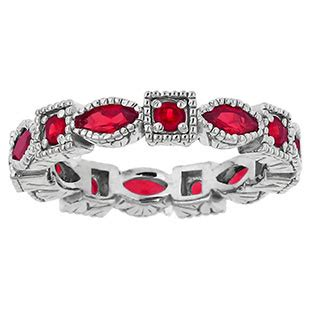 white gold personalized stackable eternity birthstone ring