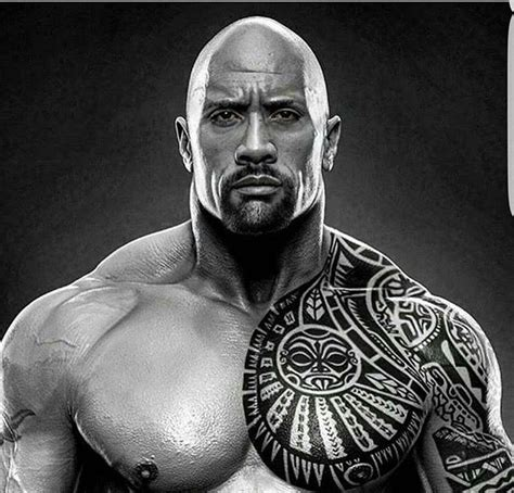 dwayne johnson tribal tattoo fitness sport rock dwayne johnson and