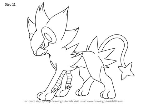 pokemon coloring pages luxray learn how to draw luxray from pokemon pokemon step by