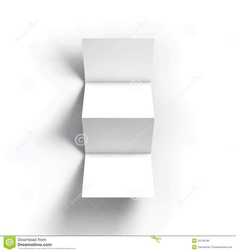 zigzag four brochure mockup template stock vector image