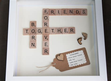 scrabble gift scrabble triplet gift born together friends