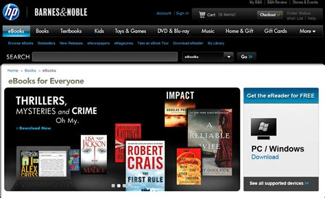 Barnes And Noble Website shopping borg barnes noble and hp launch a cobranded e book store