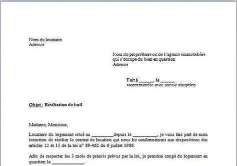 Modèle De Lettre Résiliation Bail Zone Tendue Sle Cover Letter Mod 232 Le De Lettre De Procuration Pour La Poste