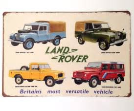 retro metal wall sign tin plaque vintage land rover