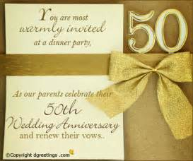 50th anniversary invitations cards