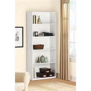 Ameriwood 5 Shelf Bookcase White Mainstays 5 Shelf Bookcase White Walmart Com