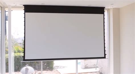 Ceiling Projector Screen by Tech Tip Installing An In Ceiling Projector Screen From Below