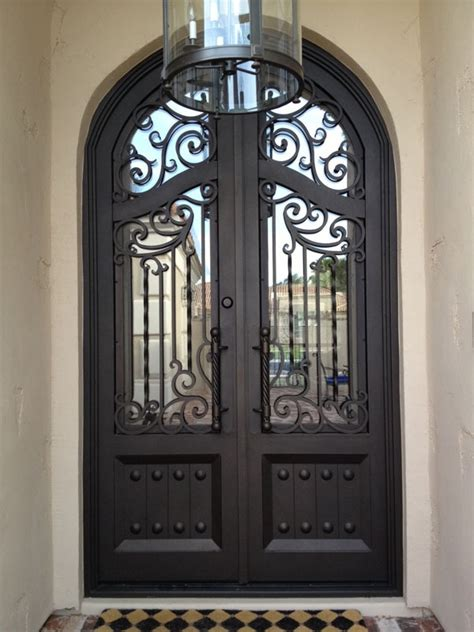 Colletti Design Iron Entry Door Scottsdale Arizona Glass And Iron Doors