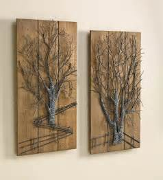 Wood And Metal Wall Decor by Wall Designs Metal And Wood Wall Metal Tree
