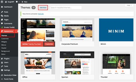 how to install your theme total wordpress theme