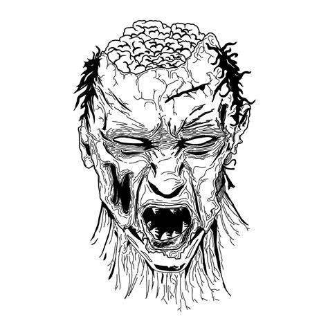 imagenes de zombis en blanco y negro dibujos ilustraciones el blog creativo de la oveja