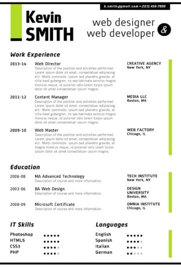 Unique Resume Words Creative Resume Template Trendy Resumes