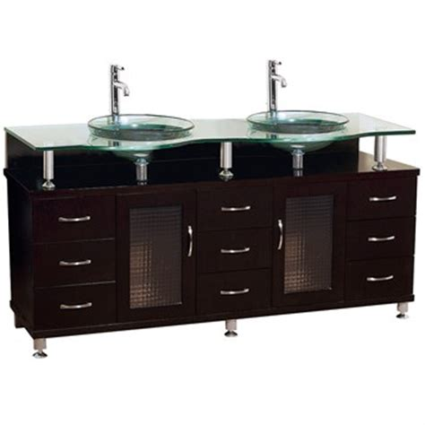 Glass Vanity Countertop by Charlton 72 Quot Bathroom Vanity With Glass Countertop