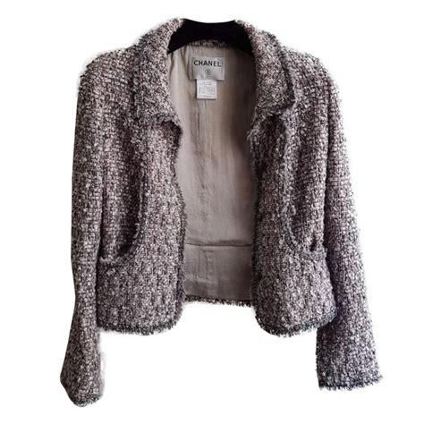 Designer Clothes Chanel Top 10 by Chanel Jacket Jackets Tweed Pink Grey Ref 37960 Joli Closet