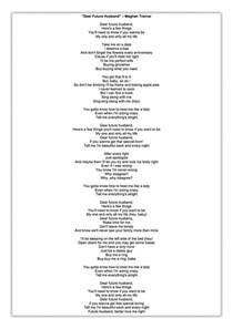 Comfortably Numb Chords And Lyrics Dear Future Husband Meghan Trainor Lyrics