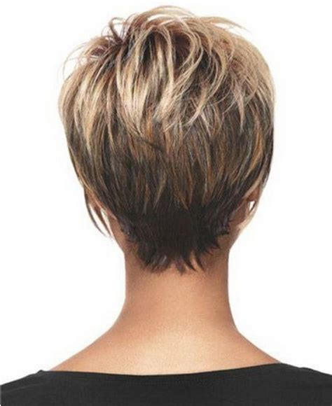 photos of the back of a haircut with a w neckline short pixie haircuts back of head