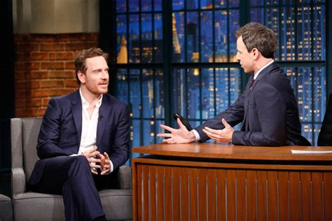 late night seth meyers nbc com late night with seth meyers michael fassbender hums 80s