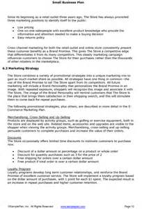 Marketing Plan Template For Small Business by Small Business Plan Excerpt Marketing Strategy