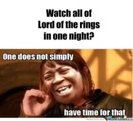 Lord Of The Meme - watch all of lord of the rings in one night by