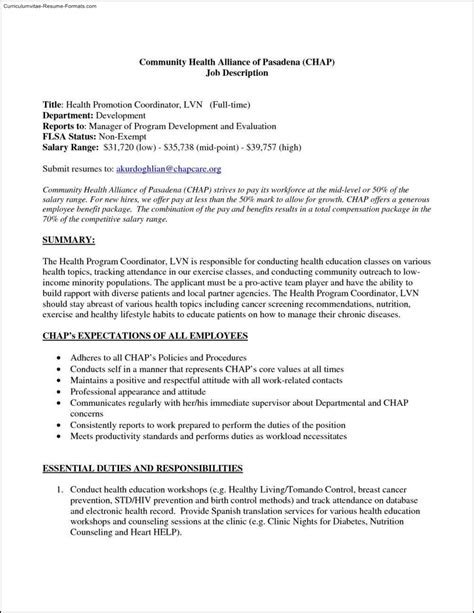 lvn resume template free sles exles format