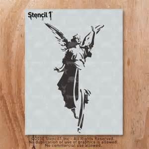 Wall Mural Stencil Kits angel stencil 8 5 x11 stencil1