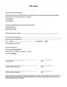 loan gift letter template gift money for payment and gift letter form
