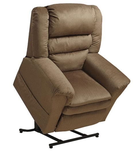 recliner with lift catnapper preston power lift recliner with pillowtop seat