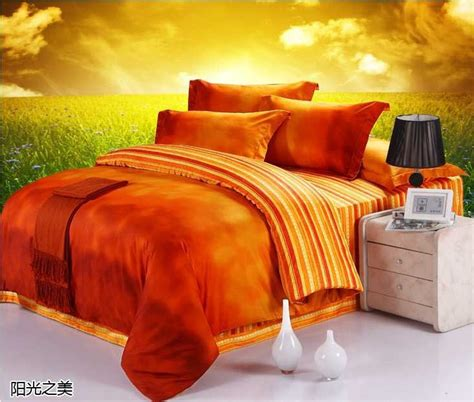 home design brand sheets luxury 100 egyptian cotton designer orange brand bedding