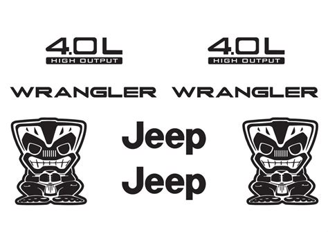 jeep stickers jeep wrangler tiki bob refresh kit vinyl sticker decal 4x4