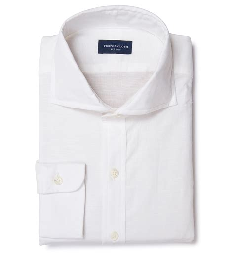 Hoodie Polos Salsabila Cloth white cotton linen fitted shirt by proper cloth