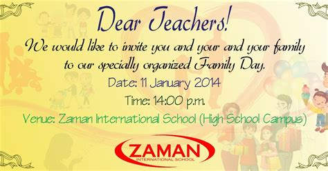 Invitation Letter Format For Teachers Day I Khmer Cambodia Family Day Invitation Card To