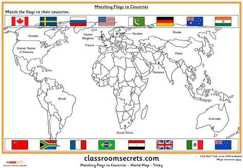flags of the world ks2 matching flags to countries classroom secrets