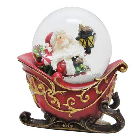 santa claus sleigh snow globe connollys homestyle york