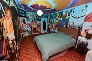 The Room Flash by Only The Bedroom Door Is Not Covered With Pictures From The Series Flash Gordon Is Set