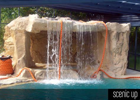 cascate artificiali per interni piscina in roccia artificiale rivestimenti in pietra
