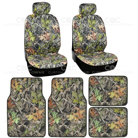 Camouflage Car Mats by 4 Pc Camo Car Seat Cover And 4 Pc Camo Carpet Floor Mats