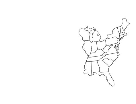 blank us map eastern states blank east coast map map
