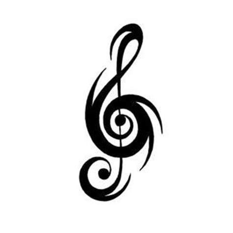 tribal music notes tattoos elaborate spiky tribal note design