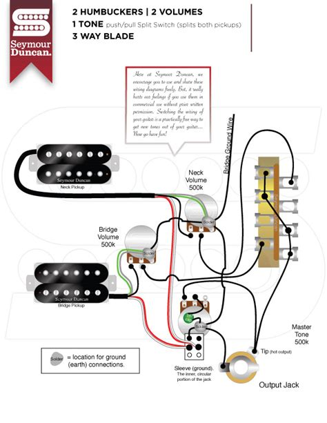 2 humbuckers 1 vol 1 tone 5 way switch wiring diagram