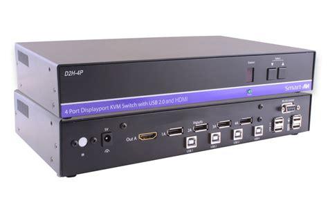 Vga Switch Gain Tech 4 Port Gt 15 4 Diskon d2h 4p s 4 port 4k uhd displayport to hdmi kvm switch with usb hub