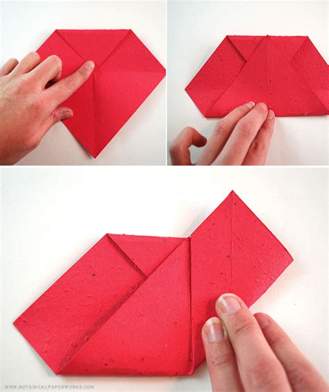 origami valentines craft origami seed paper s day hearts that