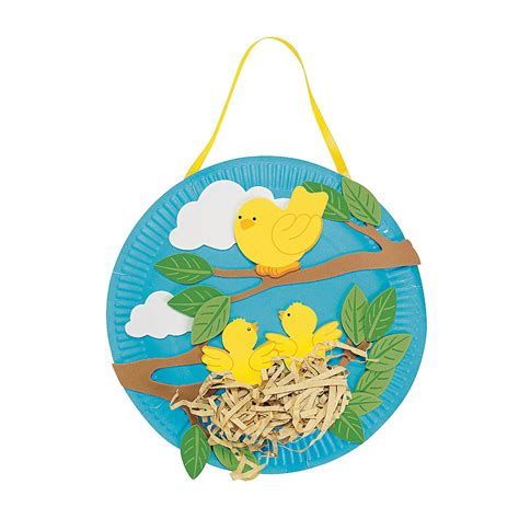 Paper Plate Bird Craft - paper plate bird s nest craft kit trading