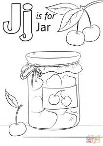 letter j coloring page letter j is for jar coloring page free printable