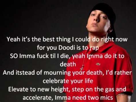 eminem you re never over lyrics eminem its never over lyrics on screen youtube