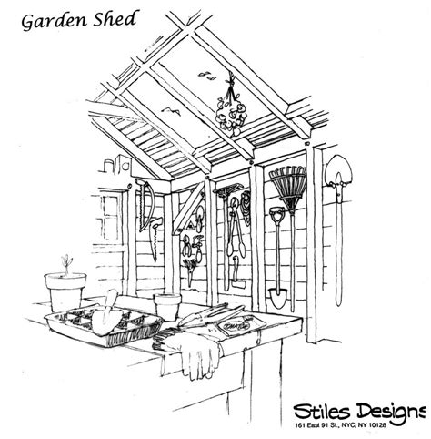 interior shed sketches