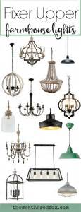 Add fixer upper style with these inexpensive farmhouse light fixtures
