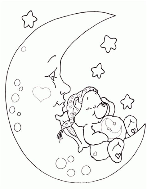 look the little bear sleeping on the moon the moon want