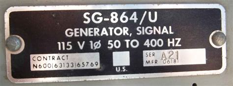 Cps 100 Transmitter us navy transmitter test equipment
