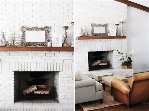 White Brick Fireplaces by White Brick Mantel Fireplace Project